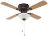"42"" Ceiling Fan for RVs - Dish Style Light Kit - Cherry/Oak Blades - Oil Rubbed Bronze - 120V 4 Blades 324-000044"