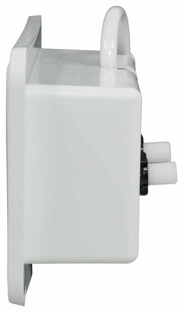 White RV Exterior Outdoor Shower Box