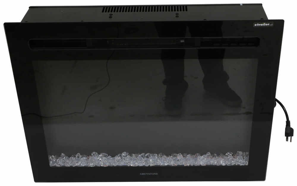 "Greystone 26"" Electric Fireplace with Crystals - Recessed ..."