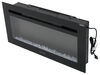 "Greystone 36"" Electric Fireplace with Crystals - Wall Mount - Black - LED Side Lights Black 324-000080"