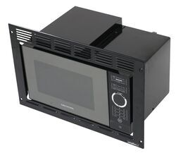 Greystone Built-in Microwave with Trim Kit - 0.9 Cu Ft - Black