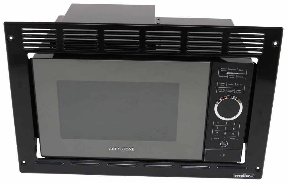 Greystone Built In Microwave With Trim Kit 0 9 Cu Ft Black Rv Microwaves 324 000105