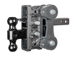 Gen-Y Torsion 2-Ball Mount w/ Stacked <strong>Receivers</strong> - 2&quot; Hitch - 5&quot; Drop/Rise - 10,000 lbs - 325-GH-1024