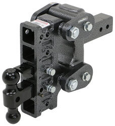 "Gen-Y Torsion 2-Ball Mount w/ Stacked Receivers - 2-1/2"" Hitch - 7-1/2"" Drop/Rise - 16K"