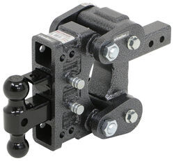 "Gen-Y Torsion 2-Ball Mount w/ Stacked Receivers - 2"" Hitch - 5"" Drop/Rise - 16K"