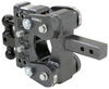 gen-y hitch ball mounts adjustable mount 16000 lbs gtw torsion 2-ball w/ stacked receivers - 2 inch 5 drop/rise 16k