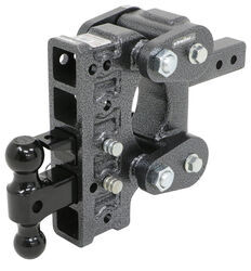 Gen-Y Torsion 2-Ball Mount w/ Stacked <strong>Receivers</strong> - 2&quot; Hitch - 7-1/2&quot; Drop/Rise - 16K - 325-GH-1225