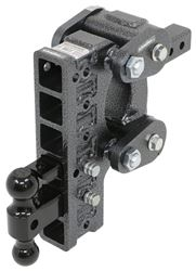 Gen-Y Torsion 2-Ball Mount w/ Stacked <strong>Receivers</strong> - 2&quot; Hitch - 10&quot; Drop/Rise - 16K - 325-GH-1226