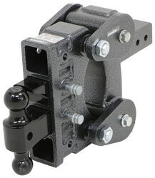 "Gen-Y Torsion 2-Ball Mount w/ Stacked Receivers - 2-1/2"" Hitch - 6"" Drop/Rise - 21K"