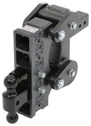 Gen-Y Torsion 2-Ball Mount w/ Stacked <strong>Receivers</strong> - 2-1/2&quot; Hitch - 9&quot; Drop/Rise - 21K - 325-GH-1325