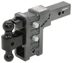 "Gen-Y Adjustable 2-Ball Mount w/ Stacked Receivers - 2-1/2"" Hitch - 6"" Drop/Rise - 32K"