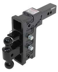 "Gen-Y Adjustable 2-Ball Mount w/ Stacked Receivers - 2-1/2"" Hitch - 9"" Drop/Rise - 32K"