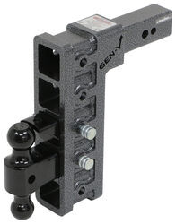 "Gen-Y Adjustable 2-Ball Mount w/ Stacked Receivers - 2-1/2"" Hitch - 12"" Drop/Rise - 32K"