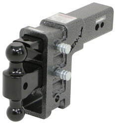 "Gen-Y Adjustable 2-Ball Mount w/ Stacked Receivers for 3"" Hitch - 6"" Drop/Rise - 32K"