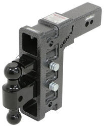 "Gen-Y Adjustable 2-Ball Mount w/ Stacked Receivers for 3"" Hitch - 9"" Drop/Rise - 32K"