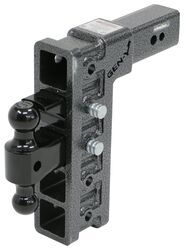 "Gen-Y Adjustable 2-Ball Mount w/ Stacked Receivers for 3"" Hitch - 12"" Drop/Rise - 32K"