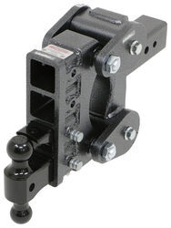"Gen-Y Torsion 2-Ball Mount w/ Stacked Receivers - 3"" Hitch - 6"" Drop/Rise - 21K"