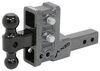 gen-y hitch ball mounts adjustable mount 16000 lbs gtw 2-ball w/ stacked receivers - 2 inch 5 drop/rise 16k