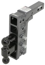"Gen-Y Adjustable 2-Ball Mount w/ Stacked Receivers - 2"" Hitch - 10"" Drop/Rise - 16K"