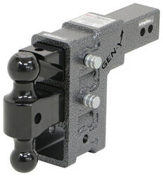 "Gen-Y Adjustable 2-Ball Mount w/ Stacked Receivers - 2-1/2"" Hitch - 6"" Drop/Rise - 21K"
