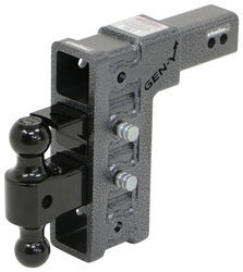 "Gen-Y Adjustable 2-Ball Mount w/ Stacked Receivers - 2-1/2"" Hitch - 9"" Drop/Rise - 21K"