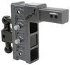 gen-y hitch ball mounts adjustable mount class v 21000 lbs gtw 2-ball w/ stacked receivers - 2-1/2 inch 9 drop/rise 21k