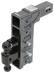 "Gen-Y Adjustable 2-Ball Mount w/ Stacked Receivers - 2-1/2"" Hitch - 12"" Drop/Rise - 21K"