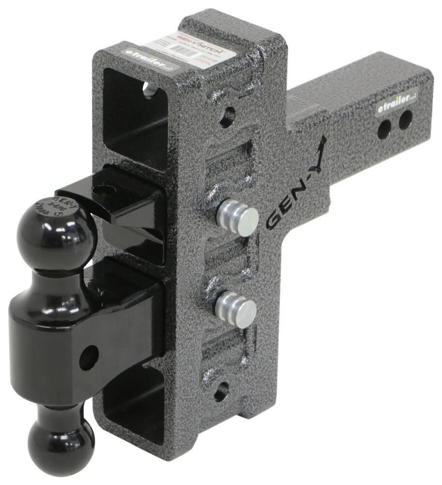 Gen-Y Hitch Stacked Receivers,Built-In Pintle Hook Ball Mounts - 325-GH-924