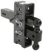 """Gen-Y Adjustable 2-Ball Mount w/ Stacked Receivers - 2-1/2"""" Hitch - 6"""" Drop/Rise - 21K Steel Ball 325-GH-924"""