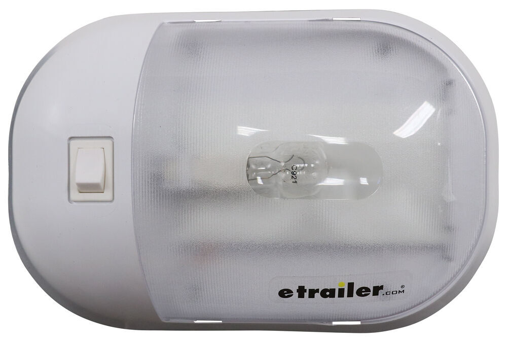 Omega RV Dome Light with Switch - Surface Mount - Incandescent - Clear Lens Surface Mount 328-001-901XPW