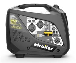 etrailer 2,000-Watt Portable Inverter Generator - 1,600 Running Watts - Gas - Manual Start