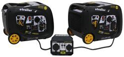 etrailer 6,000-Watt Portable Inverter Generators - 5,500 Running Watts - Parallel Kit - Gas - Remote