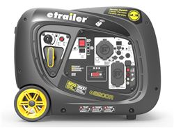 etrailer 3,200-Watt Portable Inverter Generator - 2,900 Running Watts - Gas - Electric Start