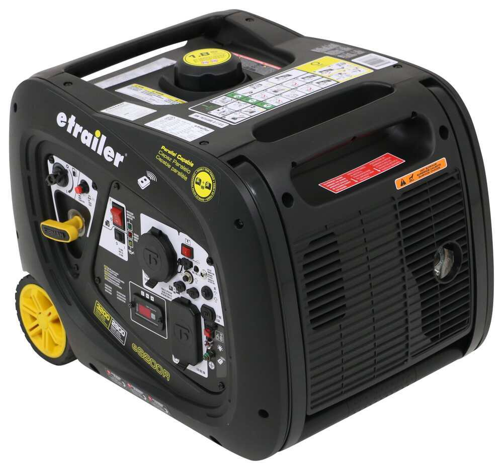 3,200-Watt Portable RV Inverter Generator - 2,900 Running Watts - Gas - Remote Start Electric Start 333-0003