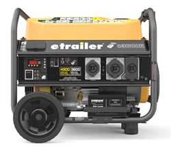 etrailer 4,500-Watt Portable Generator - 3,600 Running Watts - Gas - Electric Start