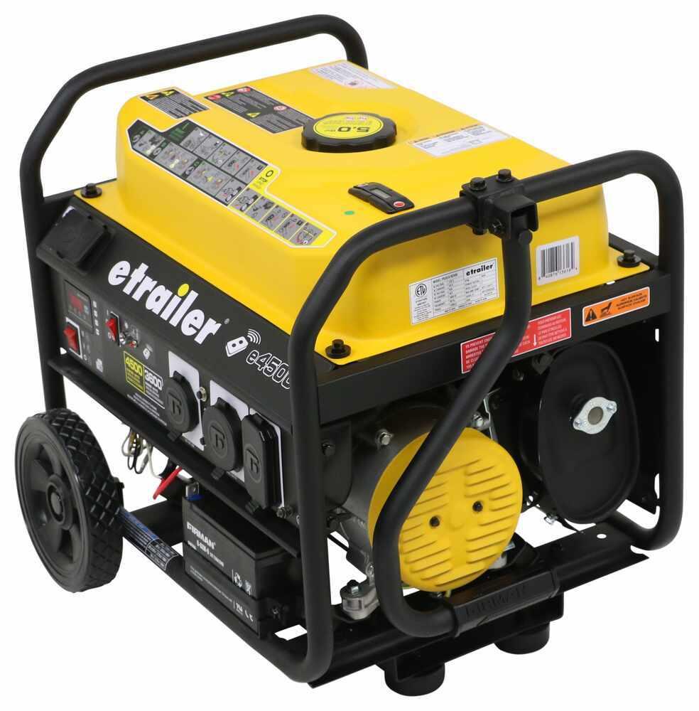 etrailer 4,500-Watt Portable Generator - 3,600 Running Watts