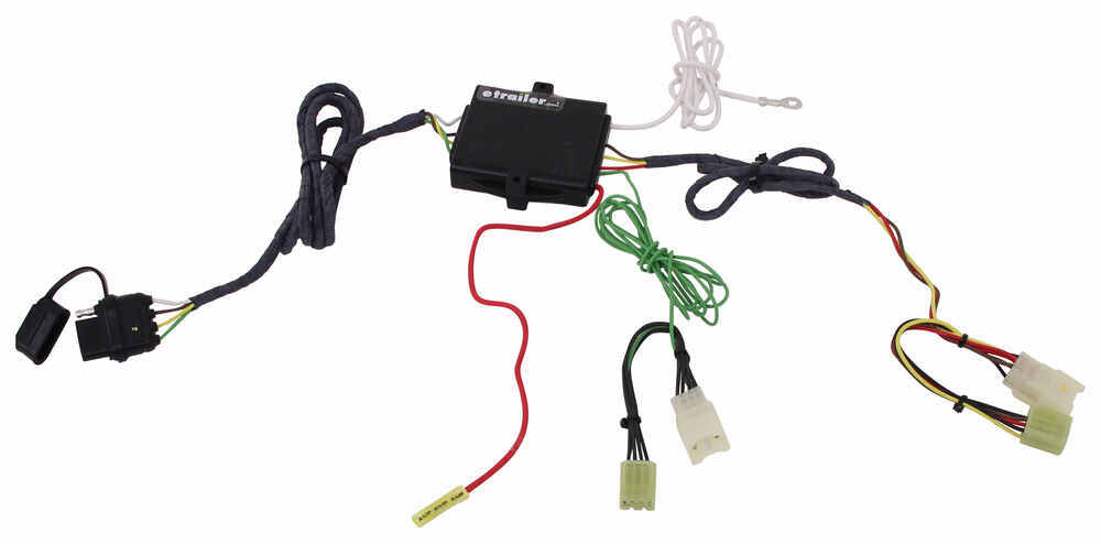 n tow r vehicle wiring harness with powered converter and 4 pole trailer connector