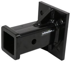 "Buyers Products Black Receiver Tube 2"" I.D. x 6"" Long Welded To 1/2"" Mounting Plate - 3371804055"