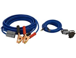 Buyers Products Booster Cables with Blue Quick Connect - 28' Long