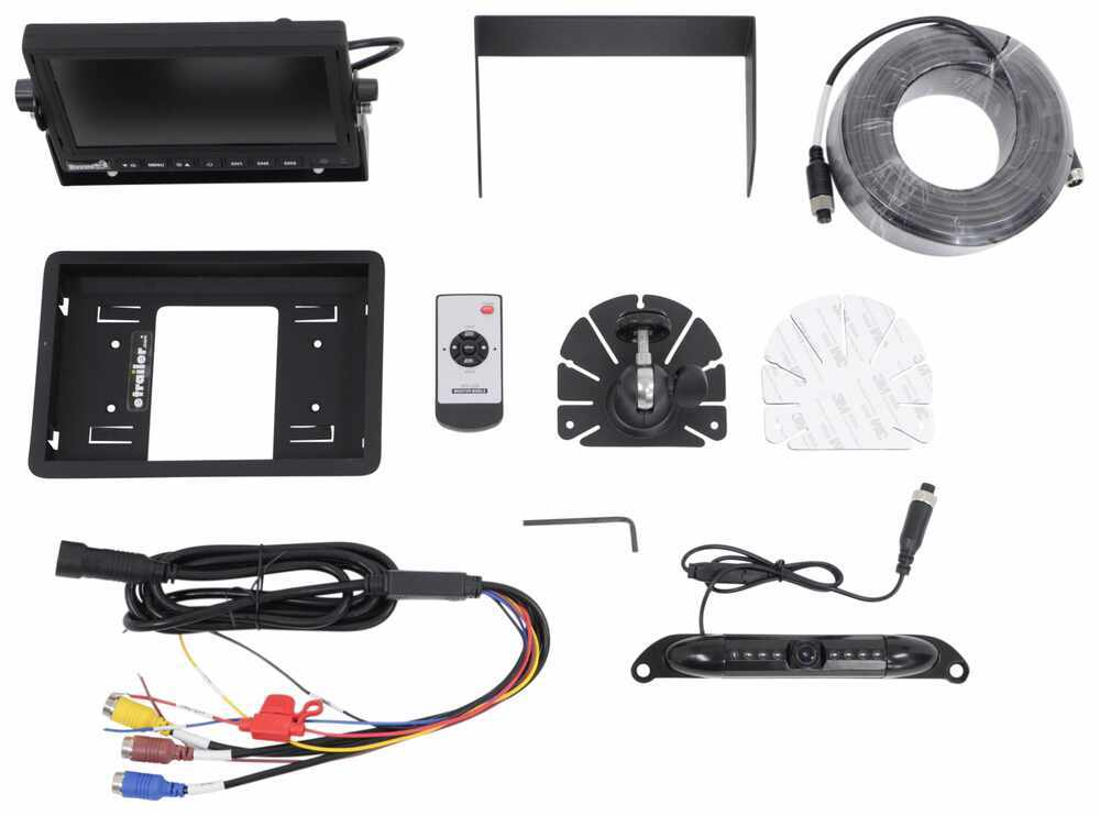 Buyers Products RV Observation Camera System with Night Vision - License Plate Mount 7 Inch Display 3378883010