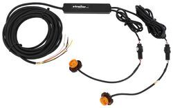 Buyers Products Hidden Strobe Kit w/ In-Line Flashers - Bolt-On - 15' Cable - Amber