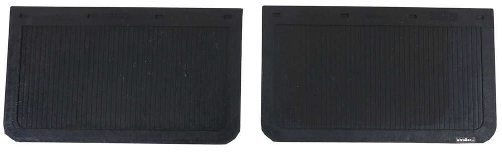 "Buyers Products Mud Flaps - Black Rubber - 24"" Wide x 14"" Tall x 1/4"" Thick 24 Inch Wide 337B2414LSP"