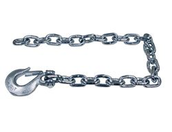 "Buyers Products 3/8"" x 35"" Class 4 Trailer Safety Chain w/ 1 Clevis Hook - 43 Proof"