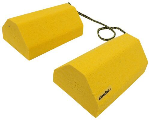 """Camper Wheel Chocks >> Buyers Products Wheel Chock Set with 32-3/4"""" Rope"""