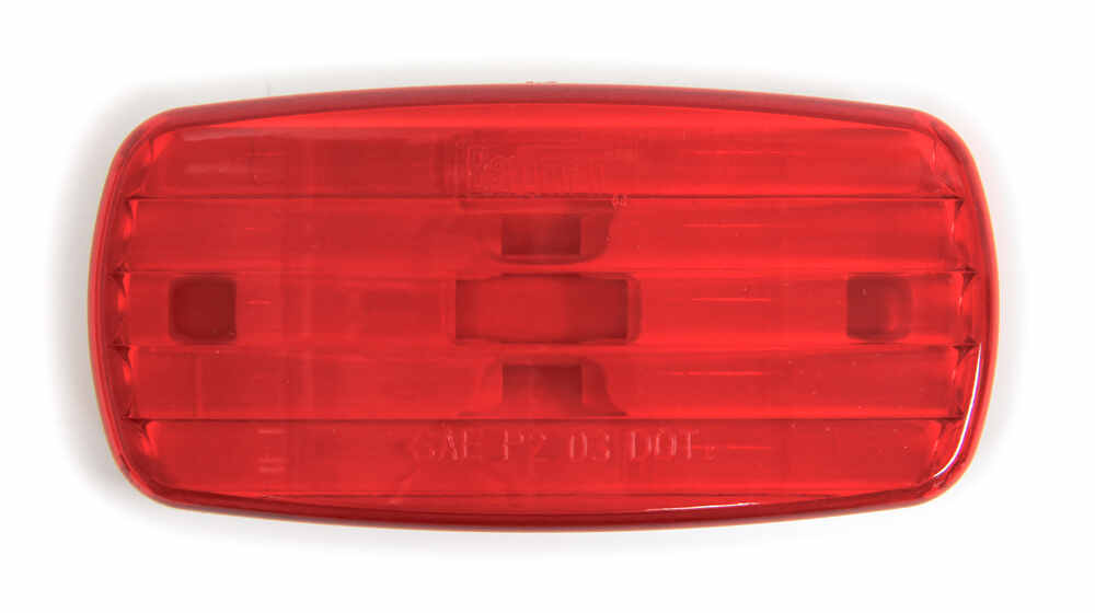 Bargman Trailer Clearance or Side Marker Light - Incandescent - Rectangle - White Base - Red Lens Non-Submersible Lights 34-58-001