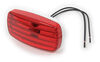 Bargman Trailer Clearance or Side Marker Light - Incandescent - Rectangle - White Base - Red Lens Incandescent Light 34-58-001