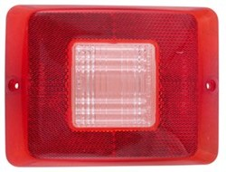 Replacement Lens for Bargman Tail Light - 84, 85, 86 Series - Clear Backup - Horizontal Mount