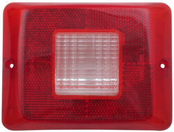 Replacement Lens for Bargman Tail Light - 84, 85, 86 Series - Clear Backup - Vertical Mount