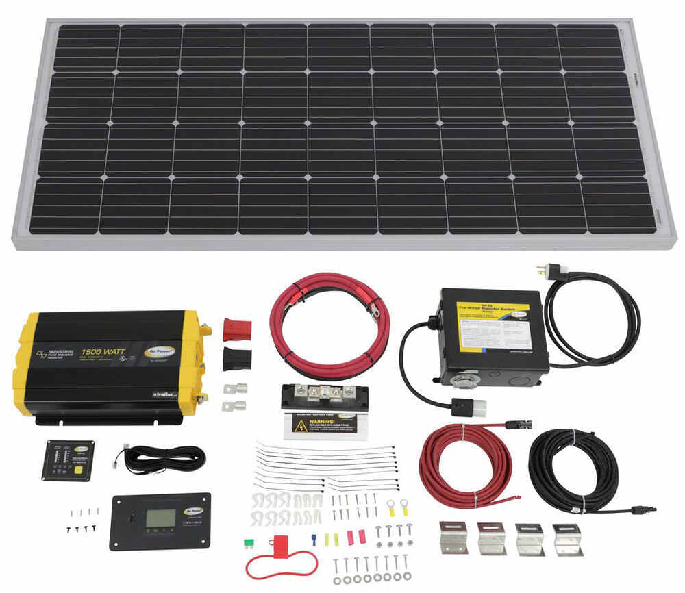 Go Power Roof Mounted Solar Kit w Inverter - 34282183