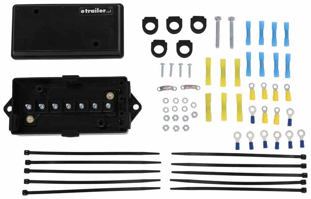 Junction Box and Installation Kit for Autowbrake Trailer-Mounted Electric Brake Controller Installation Kit,Junction Box 3430001-JBK